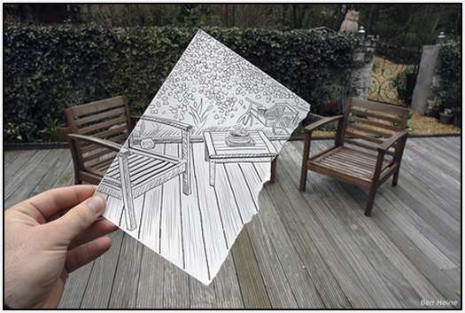 Pencil-Drawings-Combined-With-Photographs-8