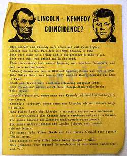 a comparison of john f kennedy and abraham lincoln