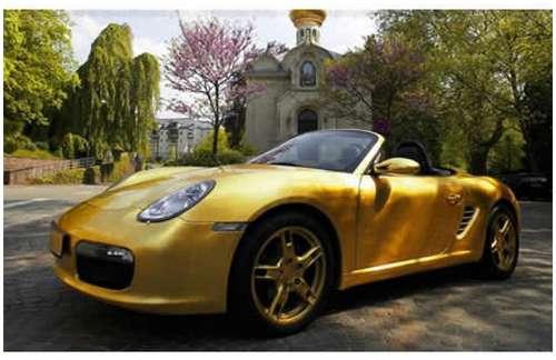 Gold-plated-Porsche