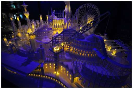 Amazing-Paper-Craft-Castle-On-the-Ocean-10