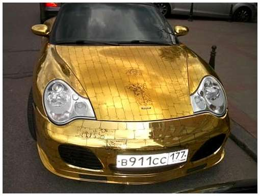 Golden-cars-on-Moscow-Streets-11