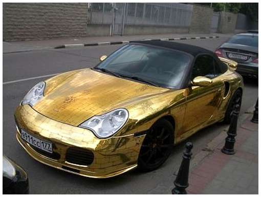 Golden-cars-on-Moscow-Streets-14