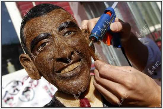Hair-Made-Sculpture-of-Barack-Obama-5