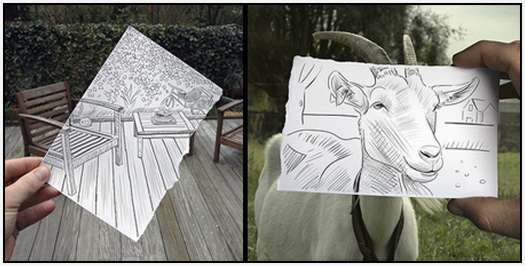 Pencil-Drawings-Combined-With-Photographs-1