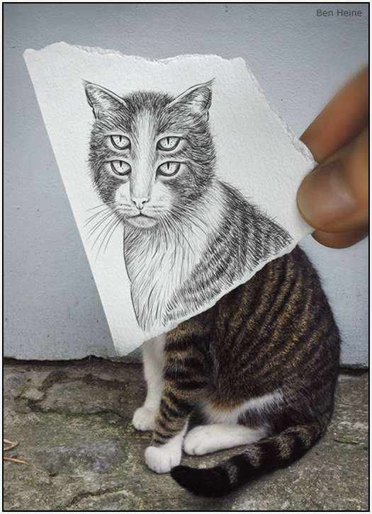 Pencil-Drawings-Combined-With-Photographs-3