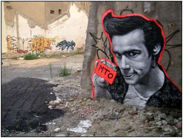 Famous People and Movie Roles as Graffiti all Over Berlin