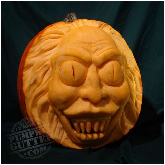 Sculptures Made By Carving Pumpkins Moolf