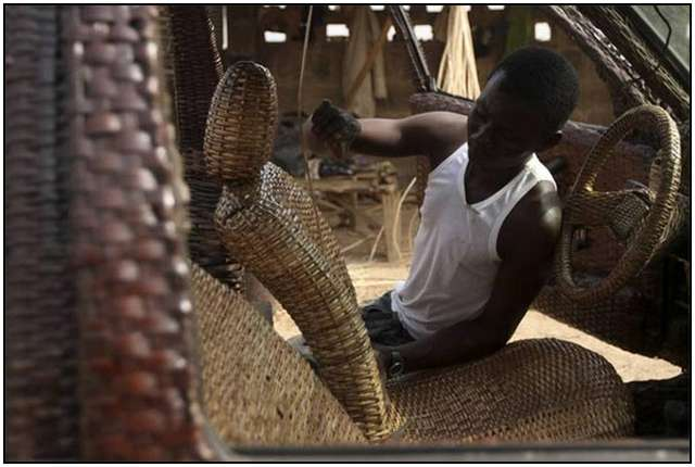 Car-Inside-and-Outside-From-Woven-Raffia-Palm-Cane-7